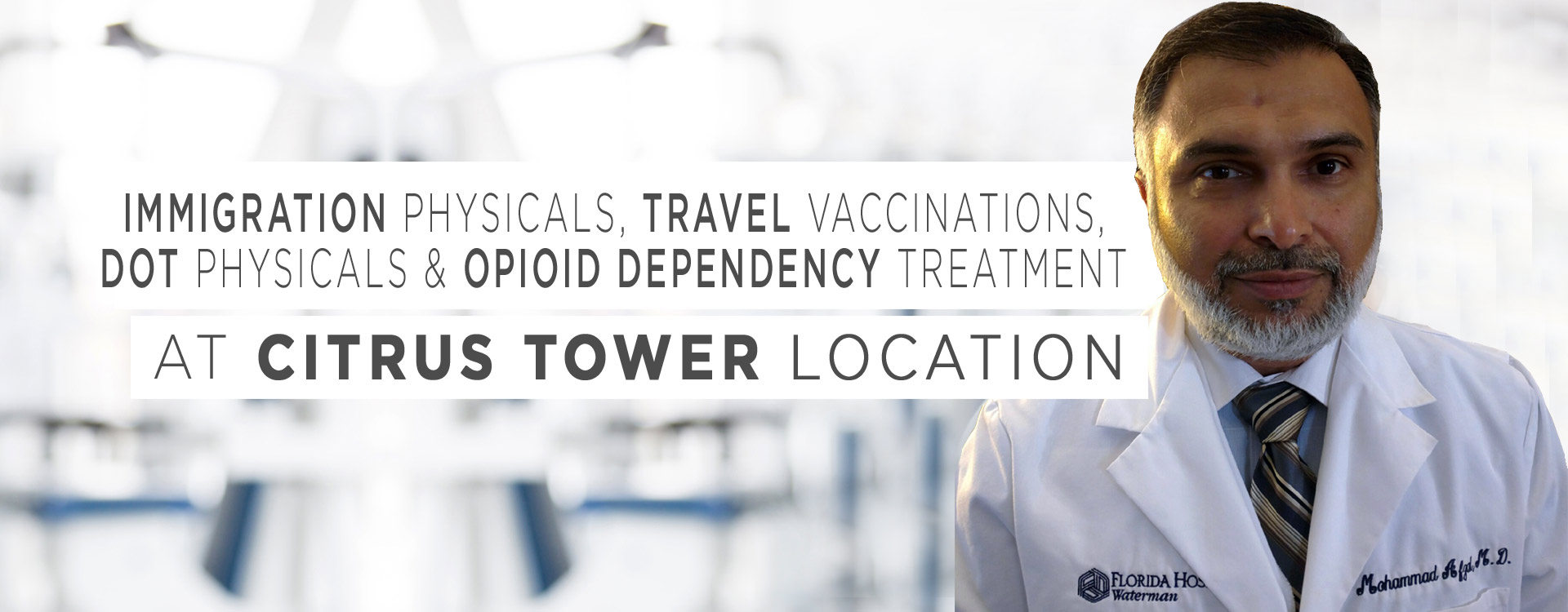 immigration physicals, travel vaccinations, DOT physicals